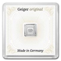 1 gram Silver Square - Geiger Edelmetalle (Encapsulated w/Assay)