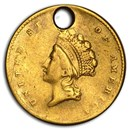 $1 Indian Head Gold Dollar Type 2 (Damaged)