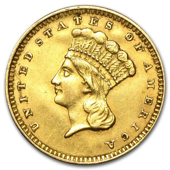 $1 Indian Head Gold Dollar Type 3 (Cleaned)