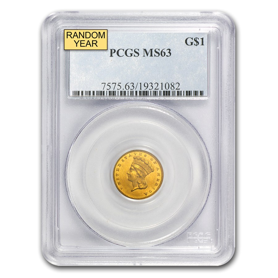 $1 Indian Head Gold Dollar Type 3 MS-63 NGC/PCGS