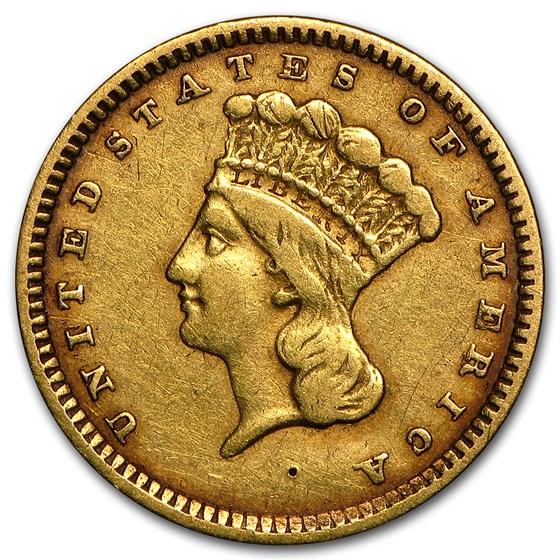 $1 Indian Head Gold Dollar Type 3 VF (Random Years)