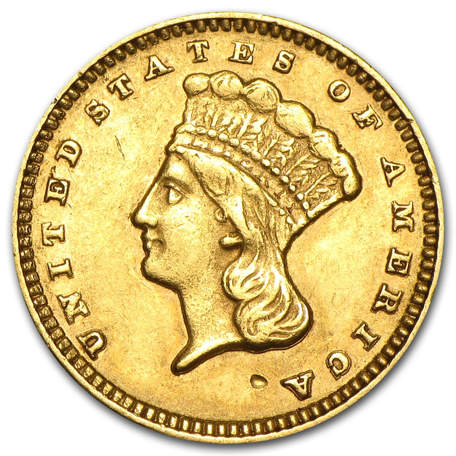 $1 Indian Head Gold Dollar Type 3 XF (Random Year)