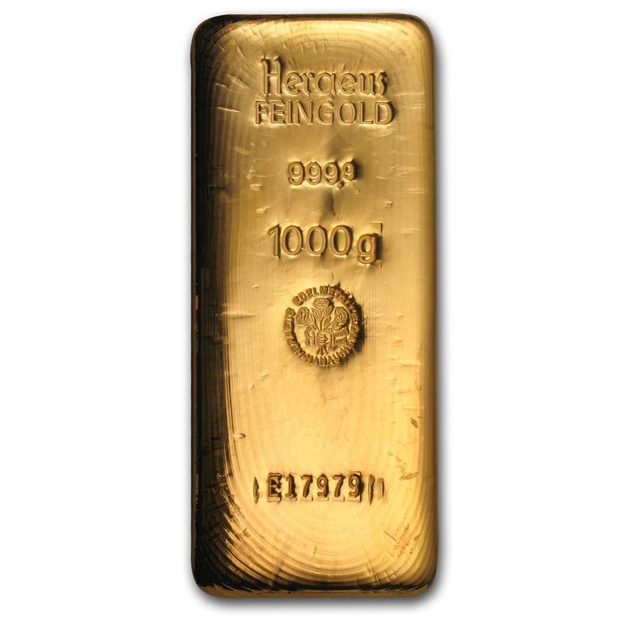 1 kilo Gold Bar - Argor-Heraeus (Cast)