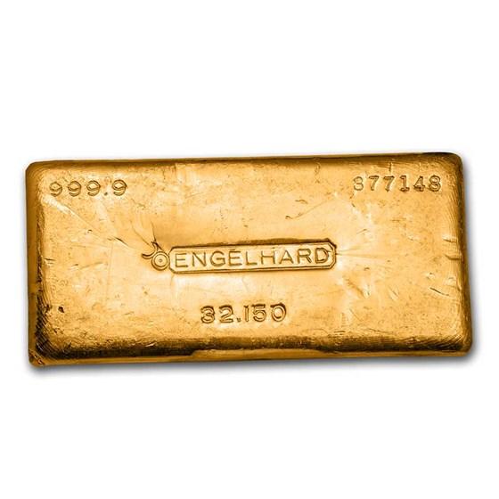 1 kilo Gold Bar - Engelhard (Bull Logo)