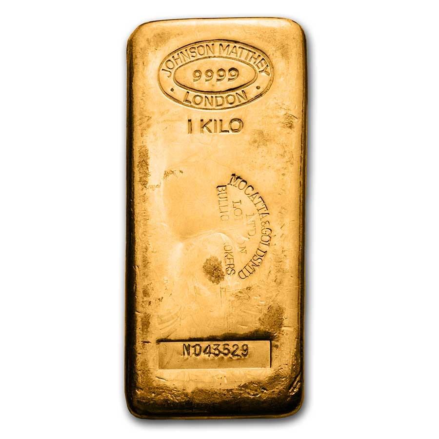 1 kilo Gold Bar - Johnson Matthey-London (Mocatta & Goldsmid LTD)