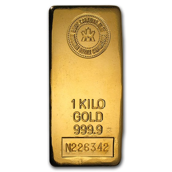 1 kilo Gold Bar - Royal Canadian Mint RCM