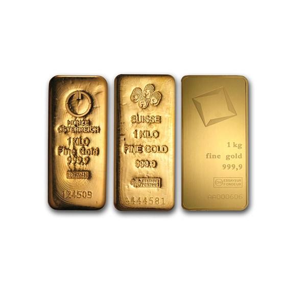 1 kilo Gold Bar - Various Mints