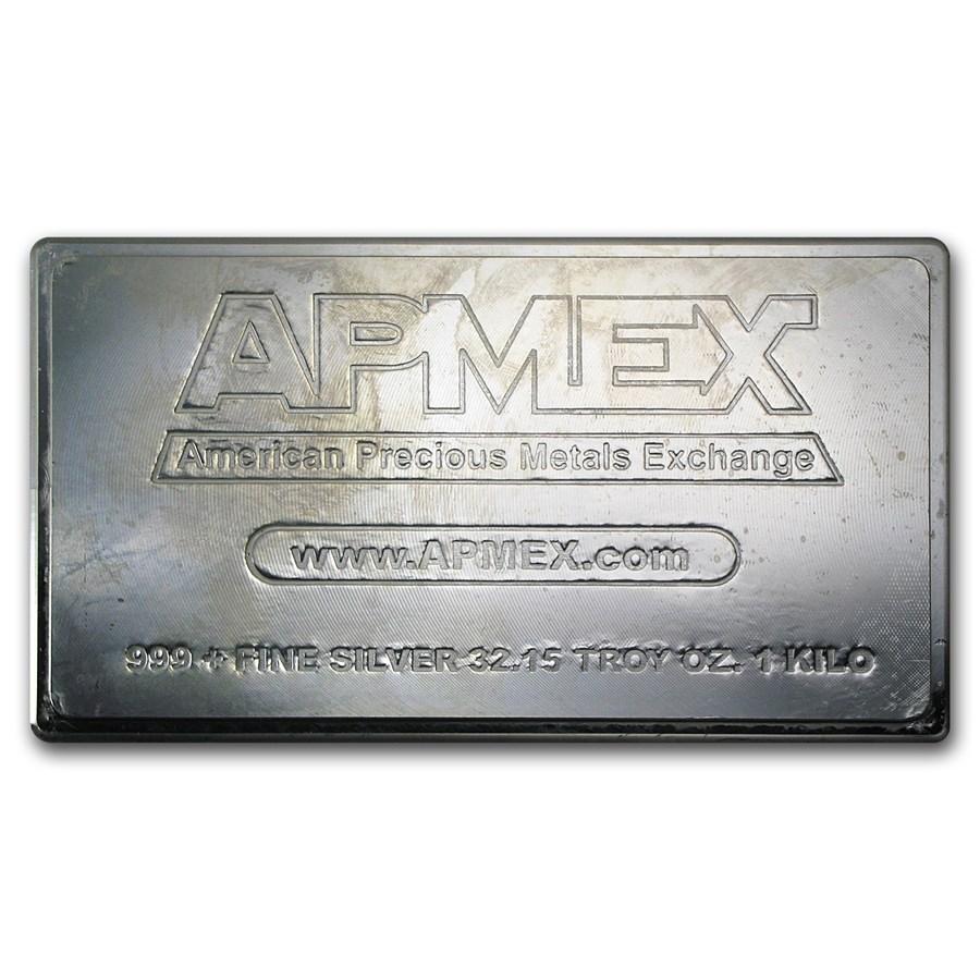 1 kilo Silver Bar - APMEX Long/Flat (Secondary Market)