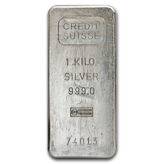 1 kilo Silver Bar - Credit Suisse