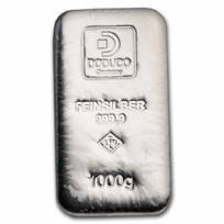 1 kilo Silver Bar - Doduco/LEV