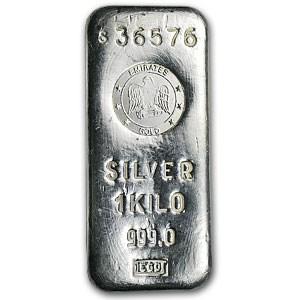 1 kilo Silver Bar - Emirates Gold (Rare)