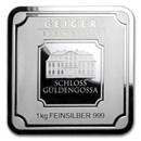 1 Kilo Silver Bar - Geiger Edelmetalle (Original Square Series)