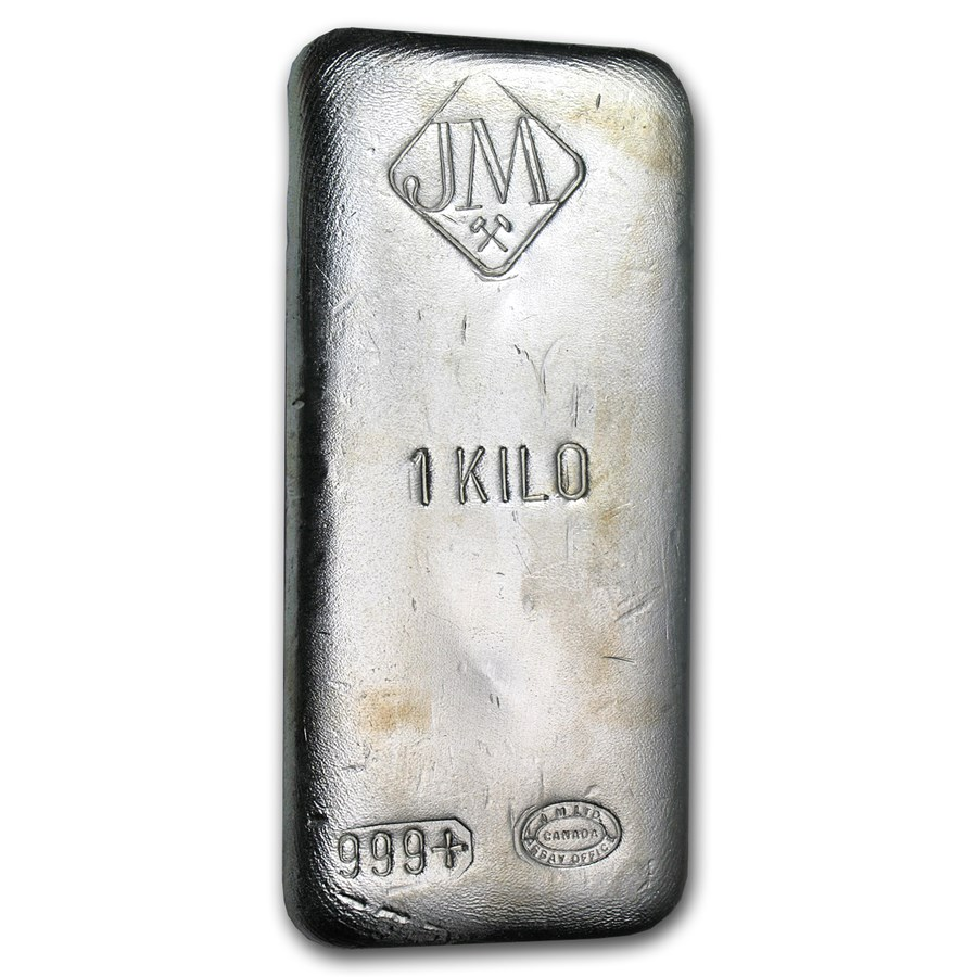 1 kilo Silver Bar - Johnson Matthey (Canada, No Serial #)