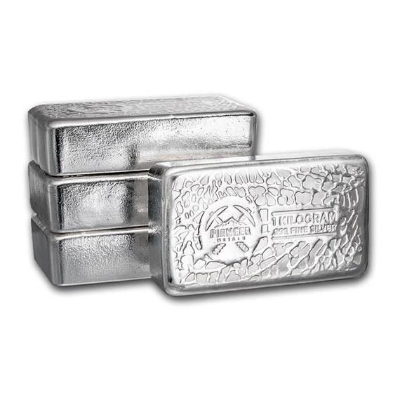 1 Kilo Silver Bar - Pioneer Metals