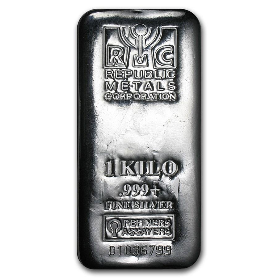 1 kilo Silver Bar - Republic Metals Corp. (RMC)