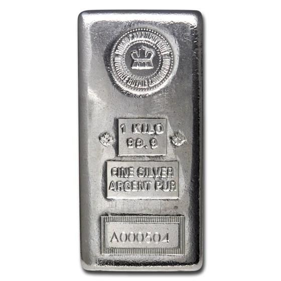 1 kilo Silver Bar - Royal Canadian Mint (Serialized)