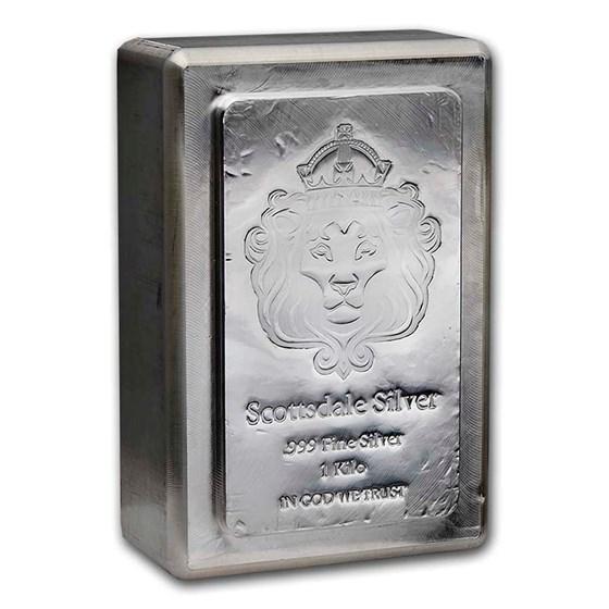 1 kilo Silver Bar - Scottsdale Mint (Stackable)