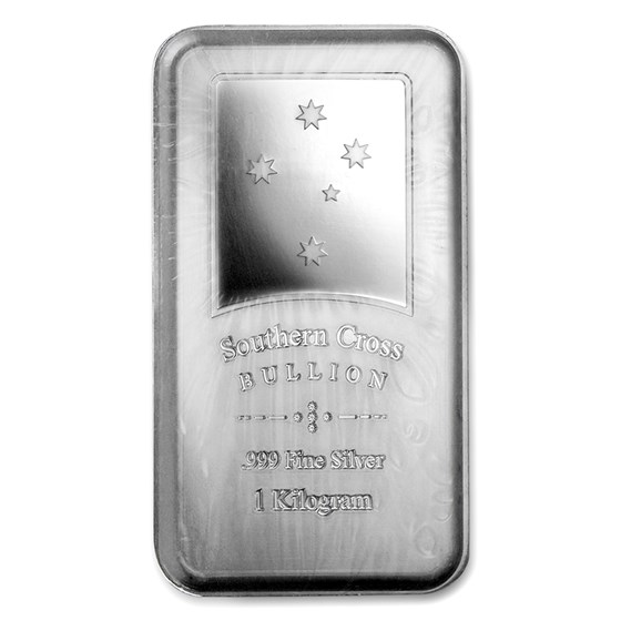 1 kilo Silver Bar - Southern Cross Bullion (Minted)