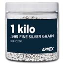1 kilo Silver Grain/Shot .999+ Fine