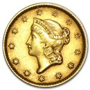 $1 Liberty Head Gold Dollar Type 1 AU (Random Year)