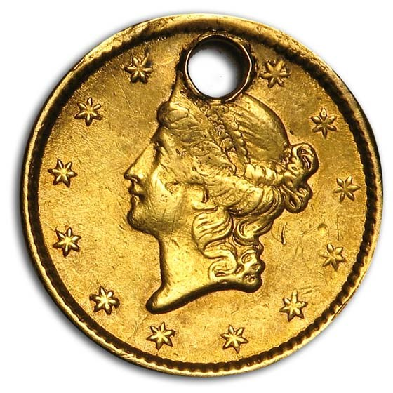 $1 Liberty Head Gold Dollar Type 1 (Damaged)