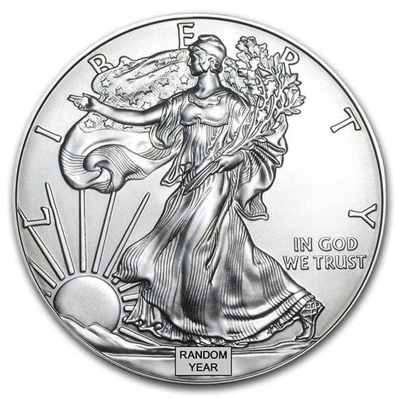 1 oz American Silver Eagle Coin BU (Random Year)