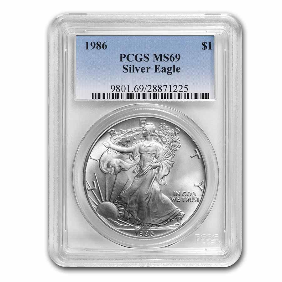 1 oz American Silver Eagle MS-69 PCGS (Random Year)