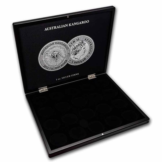 1 oz Australian Silver Kangaroo 20-Piece Black Presentation Box