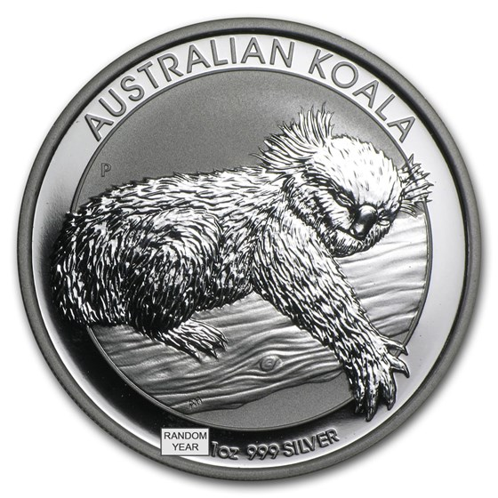 1 oz Australian Silver Koala BU (Random Year)