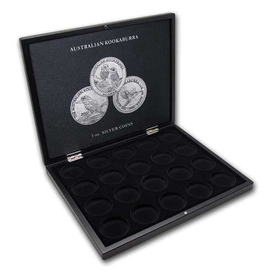 1 oz Australian Silver Kookaburra 20-Piece Black Presentation Box
