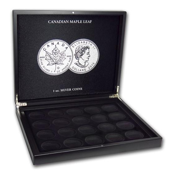 1 oz Canadian Silver Maple Leaf 20-Piece Black Presentation Box
