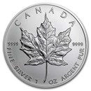 1 oz Canadian Silver Maple Leaf Coin BU (Random Year)