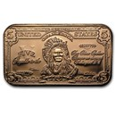 1 oz Copper Bar - $5.00 Indian Chief Banknote Replica