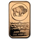 1 oz Copper Bar - Buffalo Nickel