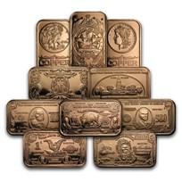 1 oz Copper Bar - Random Design