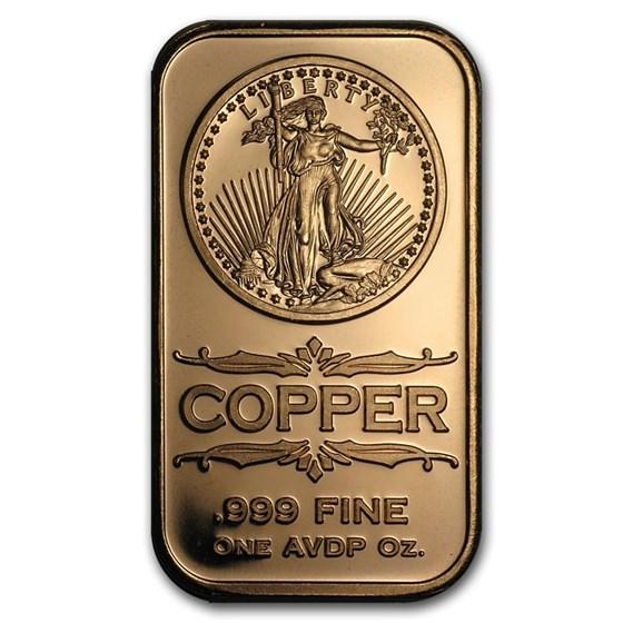 1 oz Copper Bar - Saint-Gaudens