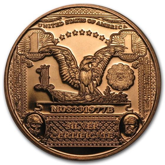 1 oz Copper Round - $1.00 Eagle Banknote Replica