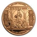 1 oz Copper Round - $10 Bison Banknote Replica
