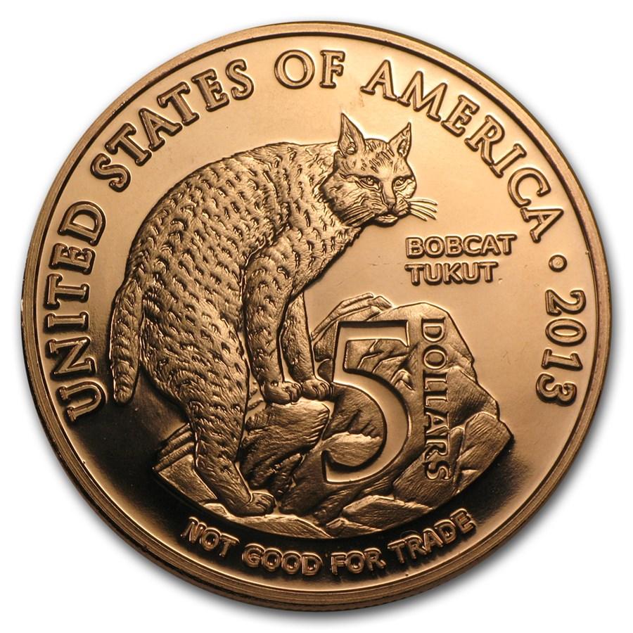 1 oz Copper Round - $5.00 Native American Los Coyotes