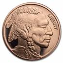 1 oz Copper Round - 9Fine Mint (Buffalo)
