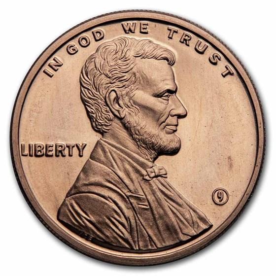 1 oz Copper Round - 9Fine Mint (Lincoln Penny)