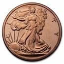 1 oz Copper Round - 9Fine Mint (Walking Liberty)