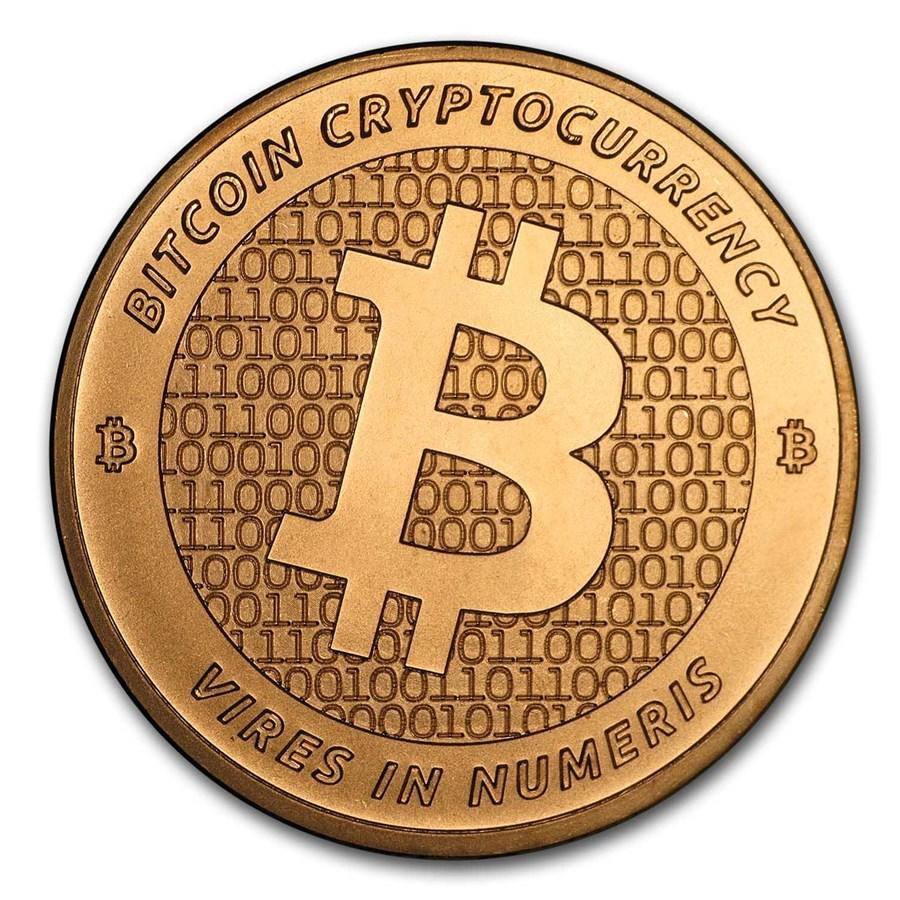 1 oz Copper Round - Bitcoin