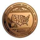 1 oz Copper Round - Cannabis (Ahead of the Curve)