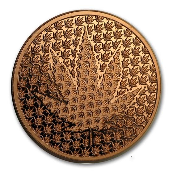 1 oz Copper Round - Cannabis Forever