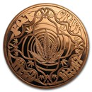 1 oz Copper Round - Cannabis (Good Vibes Only)