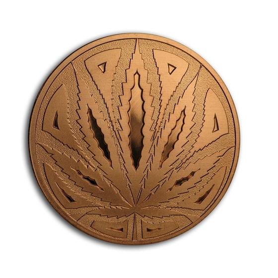 1 oz Copper Round - Cannabis (The Big Leaf)