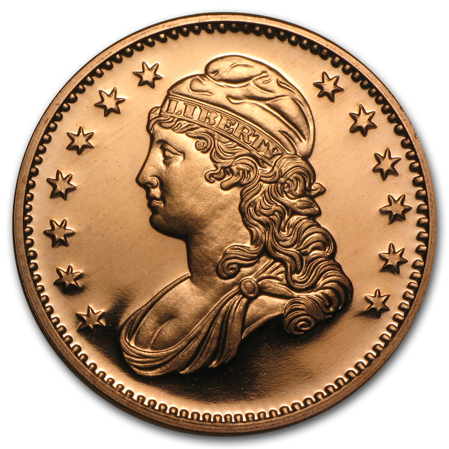 Capped Bust Half 1oz Copper Round
