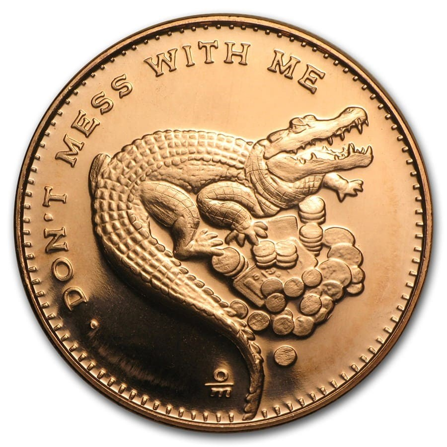 1 oz Copper Round - Don't Mess with Me