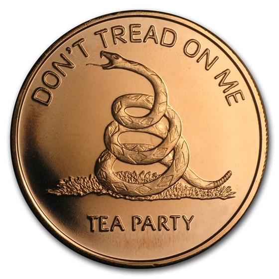 1 oz Copper Round - Don't Tread on Me - Tea Party